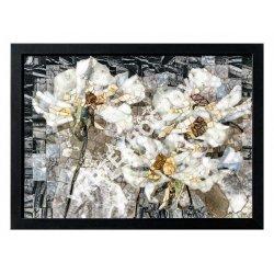 Панно Квіти білі МПП-4 400х290 мм