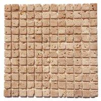 Мозаичная плитка Travertine Classic (23х23x6 мм) Стареная / Валтованная / Античная