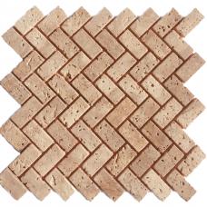 Мозаичная плитка Travertine Classic (47х23x6 мм) Старенная / Валтованная