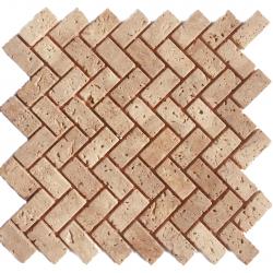 Мозаїчна плитка Travertine Classic (47x23x6 мм) Старена / Валтована