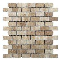 Мозаичная плитка Travertine Classic (47х23x6 мм) Полированная