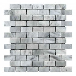 Мозаичная плитка Полир. МКР-11П (47х23) 6 мм White Mix BI
