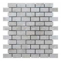 Мозаичная плитка мрамор Victoria Beige (47х23x6 мм) Полированная