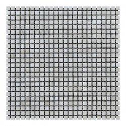 Мозаичная плитка мрамор Victoria Beige (10х10x6 мм) Стареная/Валтованная