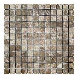 Мозаичная плитка мрамор Emperador Dark TR (23х23x6 мм) Полированная