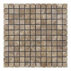 Мозаичная плитка мрамор Emperador Light (23х23x6 мм) Полированная