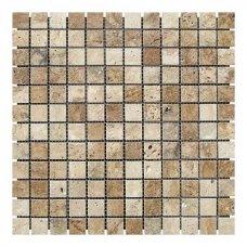 Мозаичная плитка Travertine Classic (23х23x6 мм) Полированная