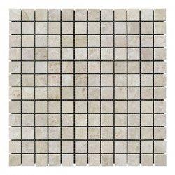 Мозаичная плитка мрамор Victoria Beige (23х23x6 мм) Полированная