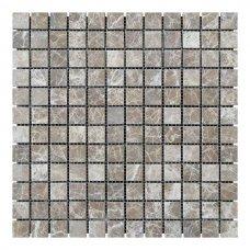 Мозаичная плитка мрамор Emperador Light (23х23x6 мм) Стареная/Валтованная