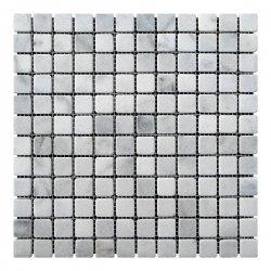 Мозаичная плитка мрамор Grey Mix (23х23x6 мм) Стареная/Валтованная