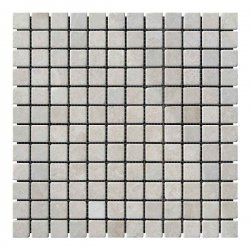 Мозаичная плитка мрамор Victoria Beige (23х23x6 мм) Стареная/Валтованная