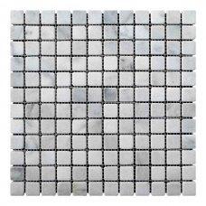 Мозаичная плитка мрамор White Mix (23х23x6 мм) Стареная/Валтованная