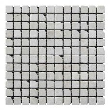 Мозаичная плитка мрамор Victoria Beige (23х23x6 мм) Стареная/Валтованная/Античная