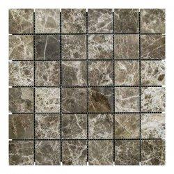 Мозаичная плитка мрамор Emperador Dark TR (47х47x6 мм) Полированная