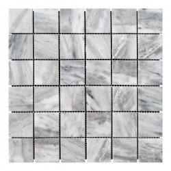 Мозаичная плитка мрамор Grey Mix (47х47x6 мм) Полированная