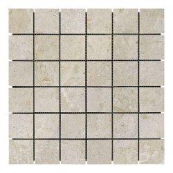 Мозаичная плитка мрамор Victoria Beige (47х47x6 мм) Полированная