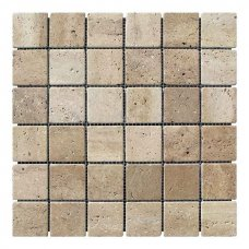 Мозаичная плитка Travertine Classic (47х47x6 мм) Стареная/Валтованная/Античная
