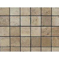 Мозаїчна плитка Травертин Travertine Classic (47x47x6 мм) Старена/Валтована/Антична