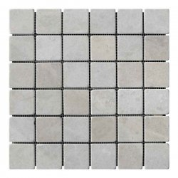 Мозаичная плитка мрамор Victoria Beige (47х47x6 мм) Стареная/Валтованная