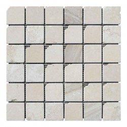 Мозаїчна плитка мармур Beige Mix (47x47x6 мм) Старена/Валтована/Антична