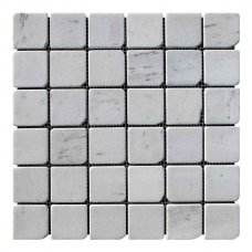 Мозаичная плитка мрамор White Mix (47х47x6 мм) Стареная/Валтованная/Античная