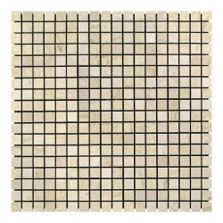 Мозаичная плитка мрамор Beige Mix (15x15x6 мм) Стареная/Валтованная