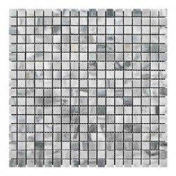Мозаичная плитка мрамор Grey Mix (15x15x6 мм) Полированная