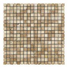 Мозаичная плитка Travertine Classic (15x15x6 мм) Полированная