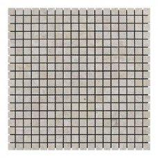 Мозаичная плитка мрамор Victoria Beige (15x15x6 мм) Стареная/Валтованная