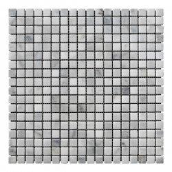 Мозаичная плитка мрамор Grey Mix (15x15x6 мм) Стареная/Валтованная