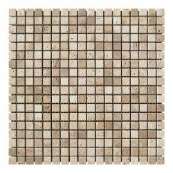 Мозаичная плитка Travertine Classic (15x15x6 мм) Стареная/Валтованная