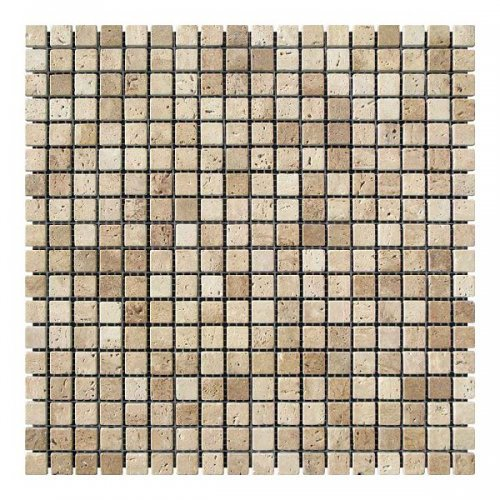 Мозаичная плитка Травертин Travertine Classic (15x15x6 мм) Стареная/Валтованная
