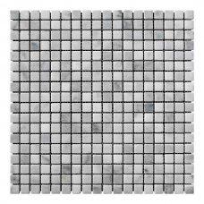 Мозаичная плитка мрамор White Mix (15x15x6 мм) Стареная/Валтованная
