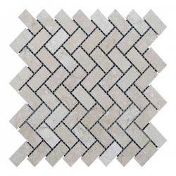 Мозаїчна плитка мармур Beige Mix (47x23x6 мм) Полірована