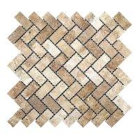 Мозаичная плитка Travertine Classic (47х23x6 мм) Полированная / Прямоугольная