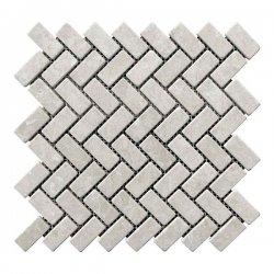 Мозаичная плитка мрамор Victoria Beige (47х23x6 мм) Стареная/Валтованная