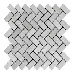 Мозаїчна плитка мармур Beige Mix (47x23x6 мм) Старена/Валтована