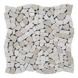 Хаотичная мраморная мозаика Beige Mix (23х15x6 мм) Стареная/Валтованная