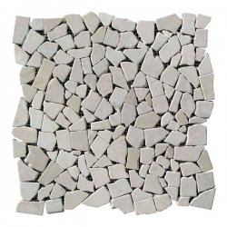Хаотичная мраморная мозаика Beige Mix 6 мм Стареная/Валтованная