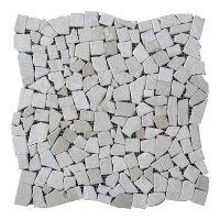 Хаотичная мраморная мозаика Victoria Beige (23х15x6 мм) Стареная/Валтованная