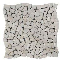 Хаотичная мраморная мозаика Victoria Beige 6 мм Стареная/Валтованная