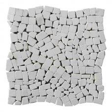 Хаотичная мраморная мозаика White Mix 6 мм Стареная/Валтованная